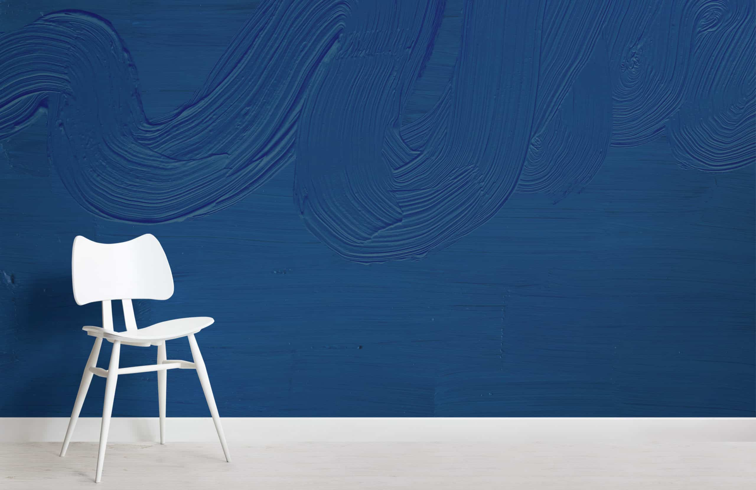 Dusk Classic Blue mural Chair Image scaled